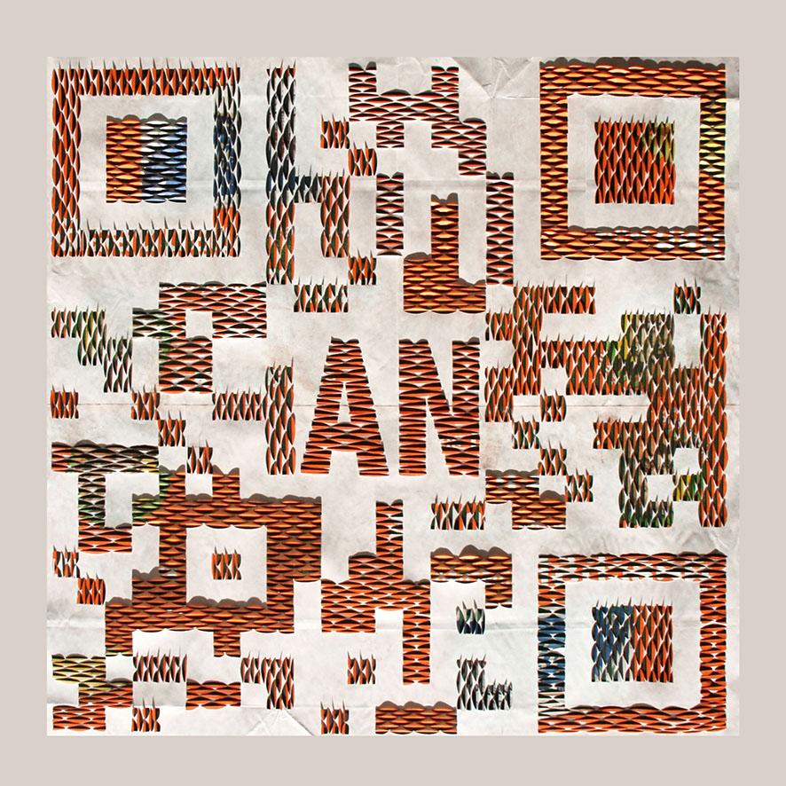 QR-3, Papier geschnitten und gefaltet, 75x75cm, 2015